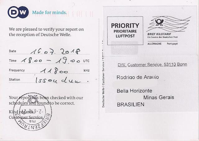 QSL Card com autômato da Luftpost