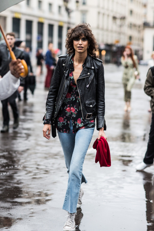 Street Style: Mica Arganaraz in Florals & Leather