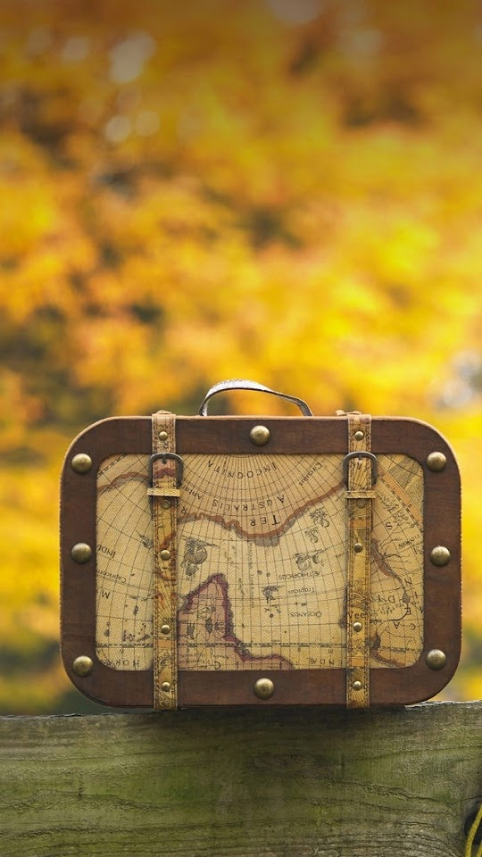 Vintage Suitcase with Treasure Map   Galaxy Note HD Wallpaper