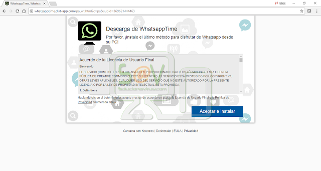 Whatsapptime.dist-app.com pop-ups