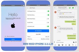 BBM Mod Iphone Style Versi Baru 3.3.1.24 Apk Tanpa Root by Ryan Chou
