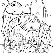 Coloring Pages For Print Cute Turtle