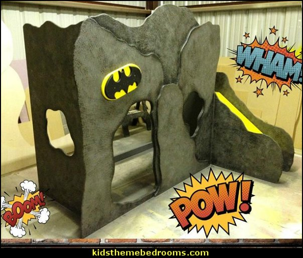 Batman bed, Super hero bed, Bat cave bed, Batman bunk, Playhouse bed, Batman