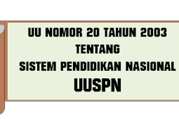 Undang - Undang (UU) No 20 [Tahun] 2003 (Tentang) SISTEM Pendidikan NASIONAL