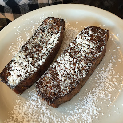 Tempting Banana Bread French Toast at Otto's Place in Galena, Illinois