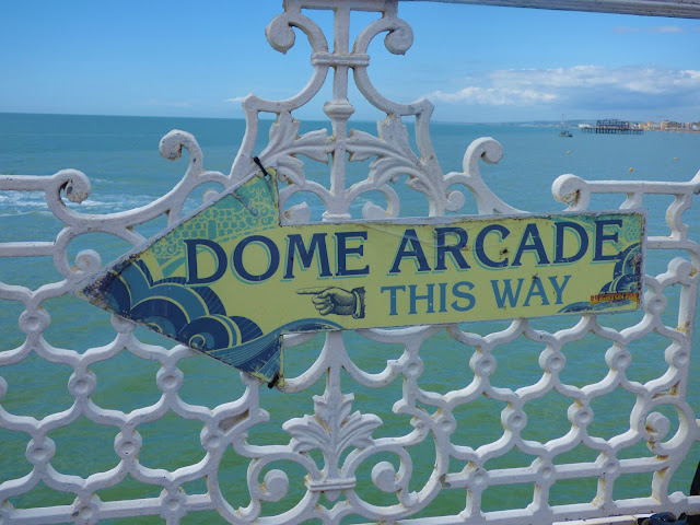 Arcade sign on Brighton Pier