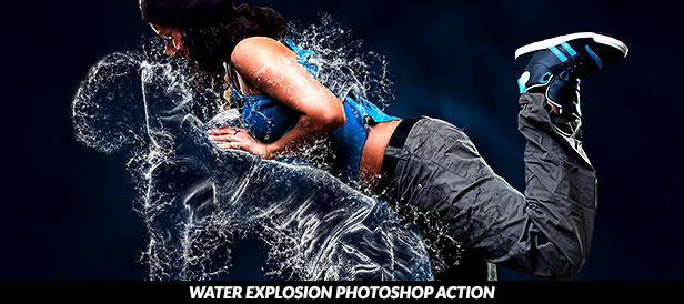 Water Scatter Photoshop Action