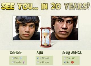 كيف سوف يصبح شكلك وانت عجوز بعد 20 سنه
