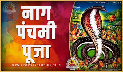 2019 नाग पंचमी पूजा तारीख व समय, 2019 नाग पंचमी त्यौहार समय सूची व कैलेंडर