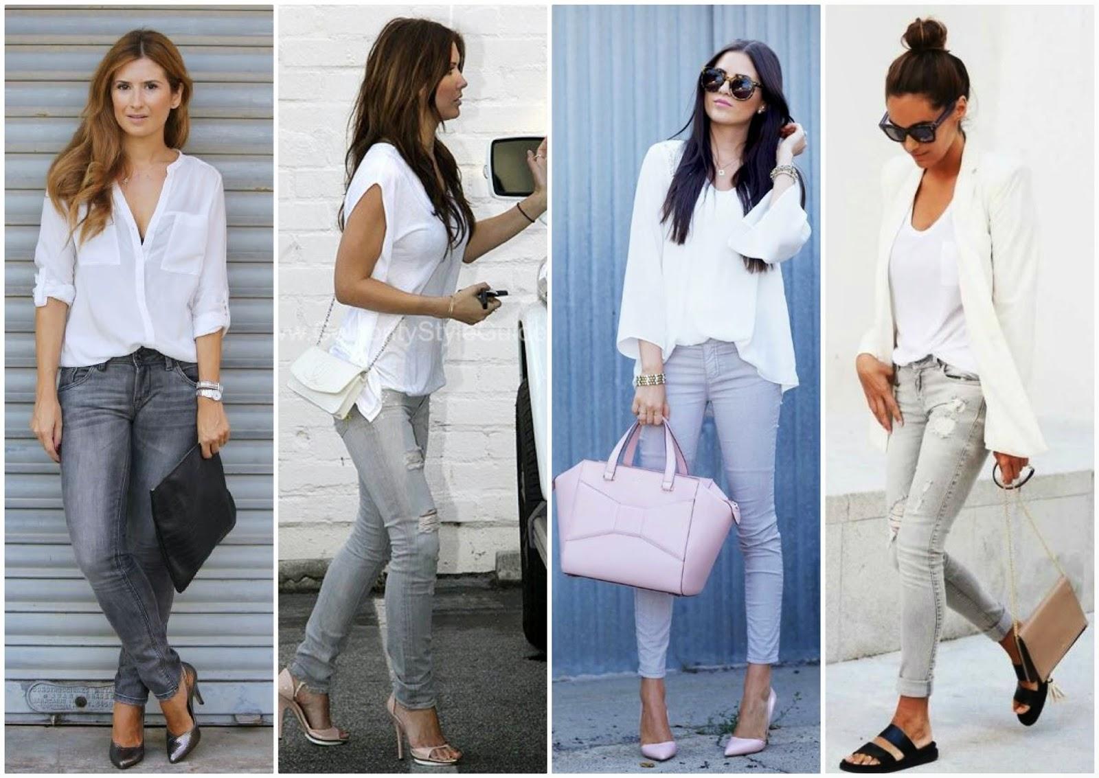 c2f9496beb3a Option Three  White Top + Grey Jeans