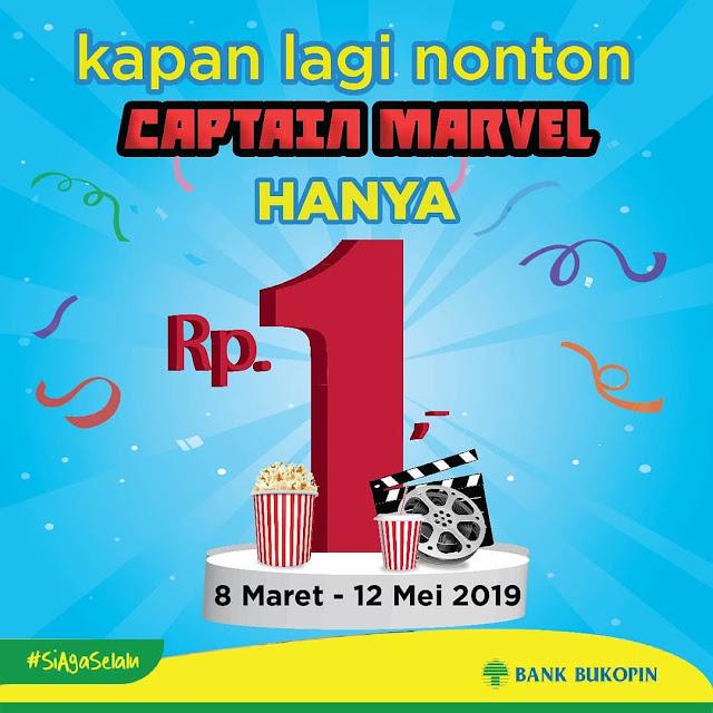 #BankBukopin - #Promo Nonton Captai Marvel Hanya 1 Rupiap Pakai QR Wokee (s.d 12 Maret 2019)