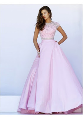 A-line Scoop Floor-length Taffeta Prom Dresses/Evening Dresses #SP7186