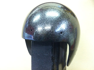 324283890 - カスタムペイント工程  ジェットヘルメット スカル クリアースピニング