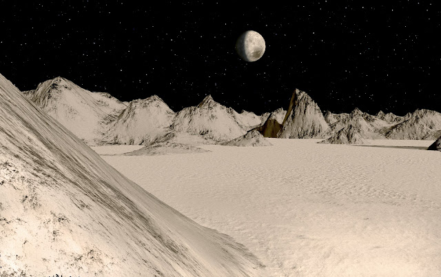 Snow Fields of Pluto