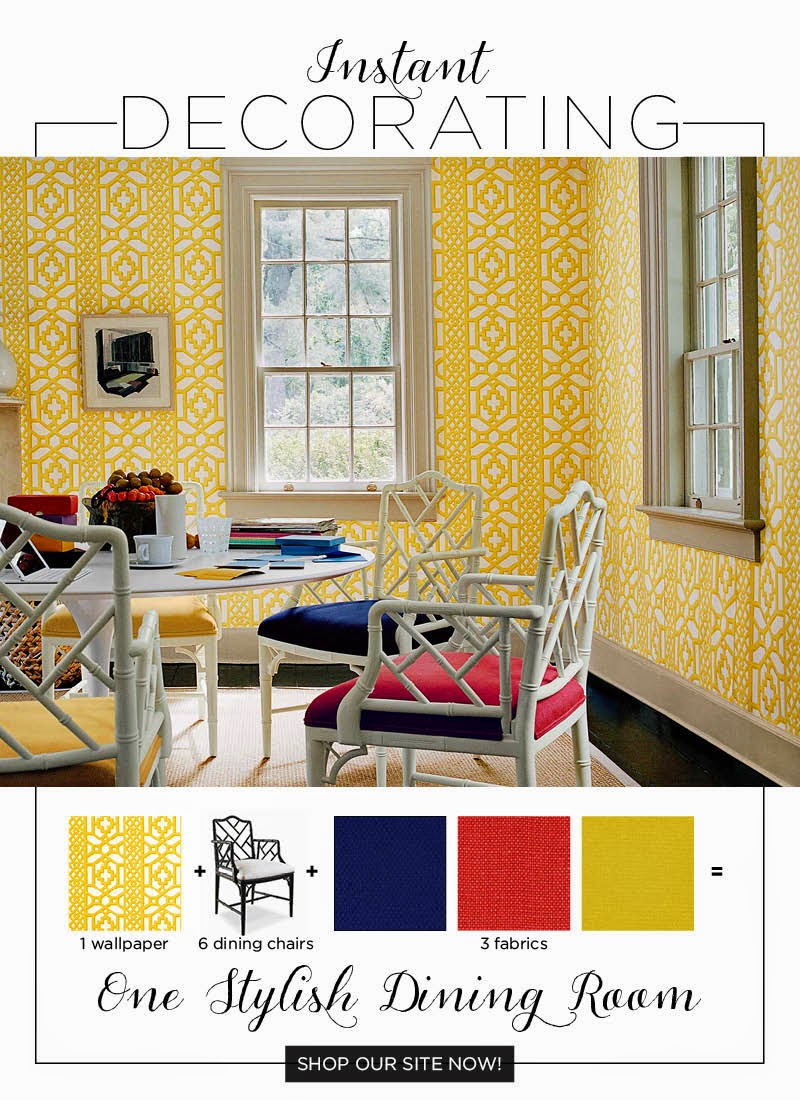 Lemon yellow inspiration schumacher mp interiors