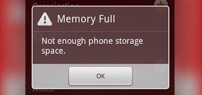 Cara Mengatasi Memori Tidak Cukup Ruang