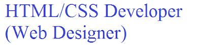 HTML/CSS Developer (Web Designer)