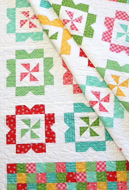 Sweet Wishes quilt pattern from the Fresh Fat Quarter Quilts Book by Andy Knowlton of A Bright Corner - makes a sweet toddler or throw quilt from just 8 FQ