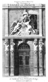 Entrance to Coade and Sealy's Gallery   of Sculpture from European Magazine  and London Review Volume 41 (1802)