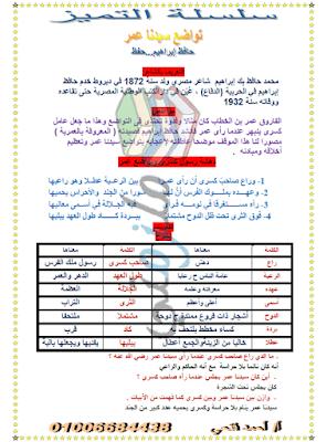 درس تواضع سيدنا عمر نصوص للصف الأول الإعدادي الترم الثاني