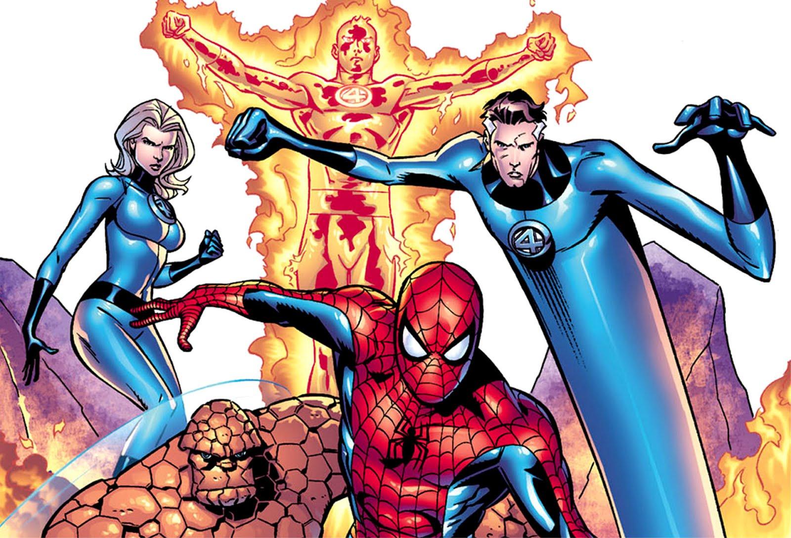 Comic Wallpapers Spiderman The Fantastic Four Comic Wallpaper