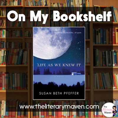 Life As We Knew It by Susan Beth Pfeffer is book one in a series about life in a very realistic post-apocalyptic world. An asteroid has knocked the moon closer to Earth causing all sorts of natural disasters. Miranda, the main character, and her family must make difficult choices about survival with no end to the disaster in sight. Read on for more of my review and ideas for classroom use.