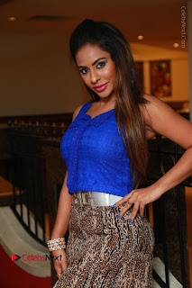 Telugu Actress Srilekha Reddy Latest HD Pos in Sleeveless Blue Top at Muse Art Gallery  0036.JPG