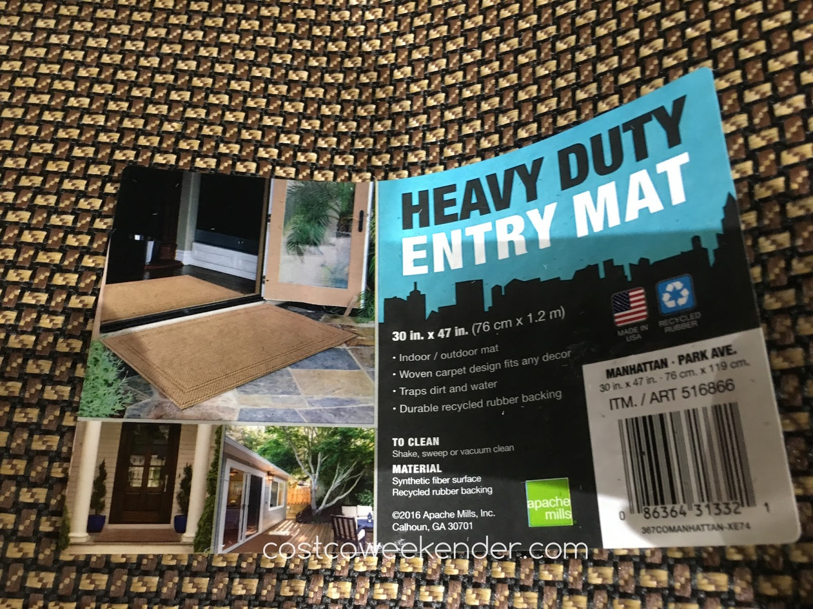 Rubber mats costco - Costco 516866 Apache Mills Manhattan Heavy Duty Entry Mat Great For Any Home Entrance
