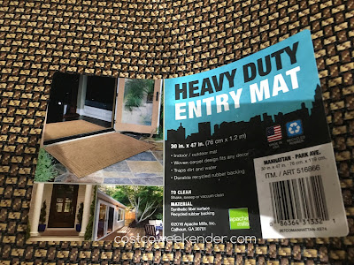 Costco 516866 - Apache Mills Manhattan Heavy Duty Entry Mat - great for any home entrance