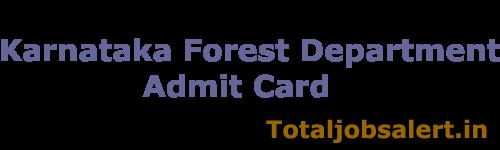 Karnataka Forest Dept Admit Card 2016