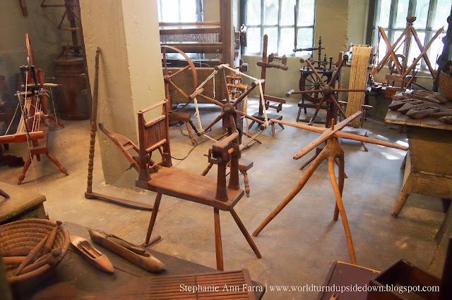 Mercer Museum Weaving Spinning Wheels