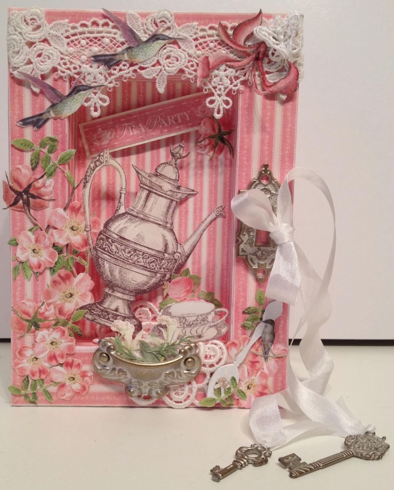 Annes Papercreations: G45 Botanical Tea Shadow Book Box