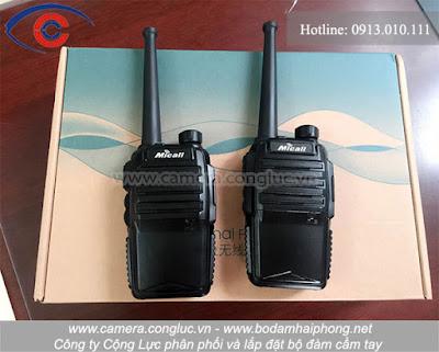 Sản phẩm bộ đàm cầm tay dùng sim 3G Micall do Cộng Lực cung cấp và lắp đặt tại thị trường Hải Phòng.