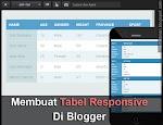 Cara Membuat Tabel Responsive Di Blogger