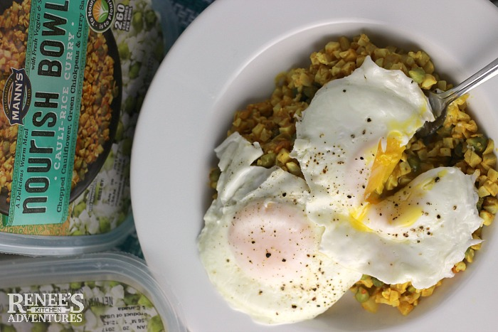 Easy Curry Cauliflower Rice Bowl with Egg