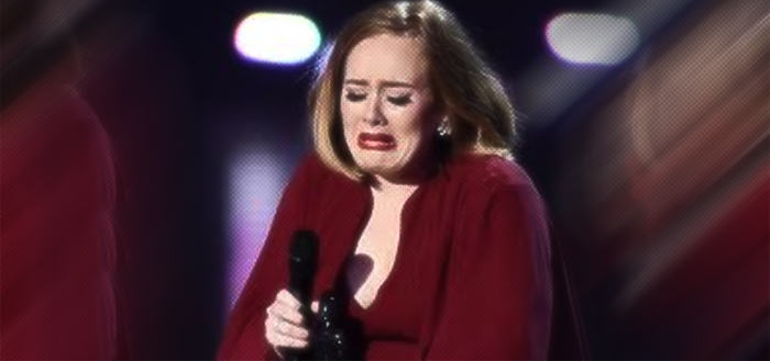 adele crying