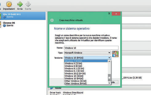 Come installare Windows 7 in VirtualBox: impostazione VB