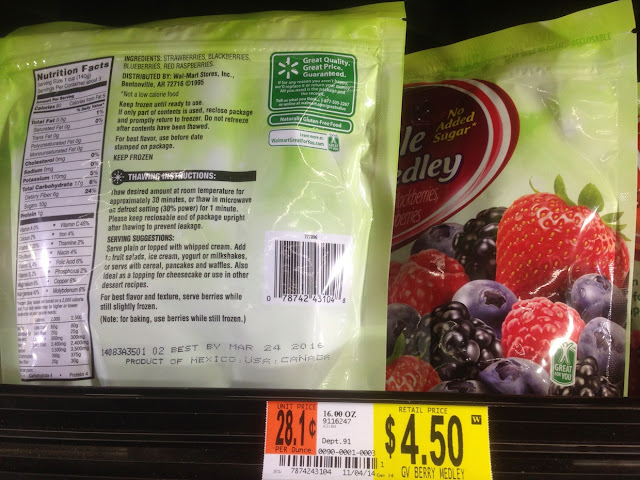 Berry Medley, Great Value, 16 oz - Walmart