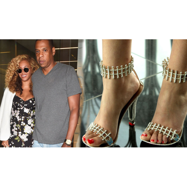 Beyonce's $300,000 diamond studded shoes