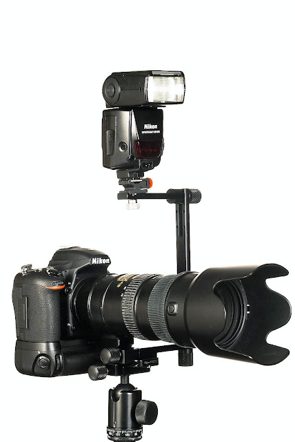 Hejnar FB87B Flash Bracket on lens foot plate