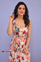 Actress Richa Panai Pos in Sleeveless Floral Long Dress at Rakshaka Batudu Movie Pre Release Function  0044.JPG