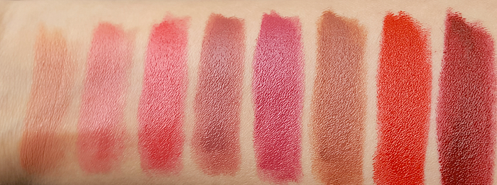 Review & Swatches: KORRES Morello Creamy Lipsticks - 03 Warm Beige, 15 Blooming Pink, 21 Vivid Pink, 23 Natural Purple 28 Pearl Berry, 34 Mocha Brown, 54 Classic Red, 59 Burgundy Red