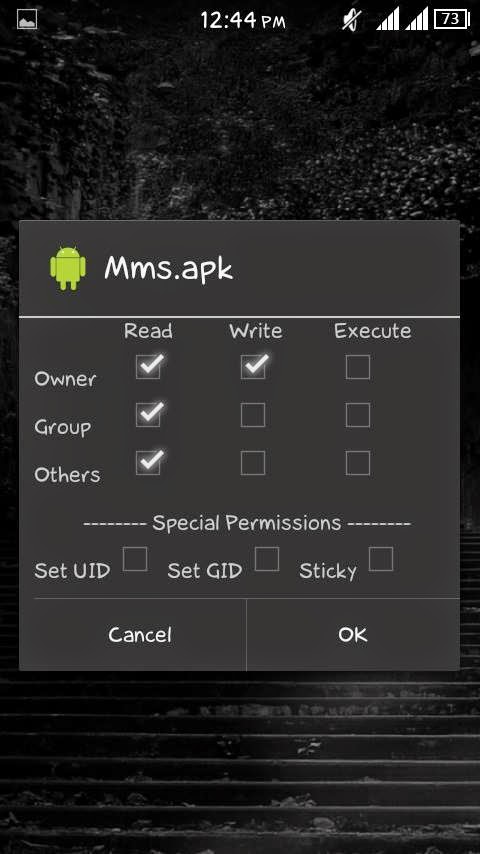 MMS BUBBLE MMS.APK PERMISSION