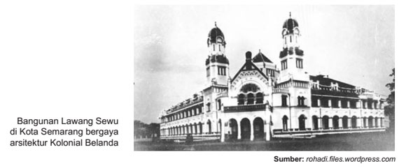 Perubahan seni arsitektur di zaman kolonial barat