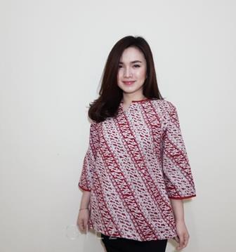 Model Baju Batik Atasan Kombinasi Terbaru