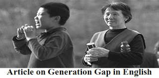 Article on Generation Gap in English