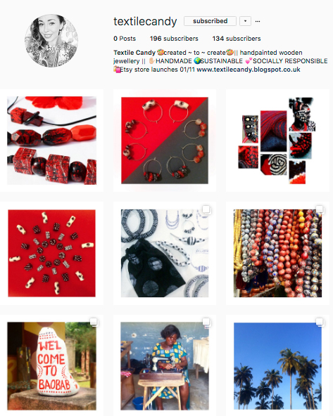 business instagram, textile candy, slowfashion, ethical jewellery