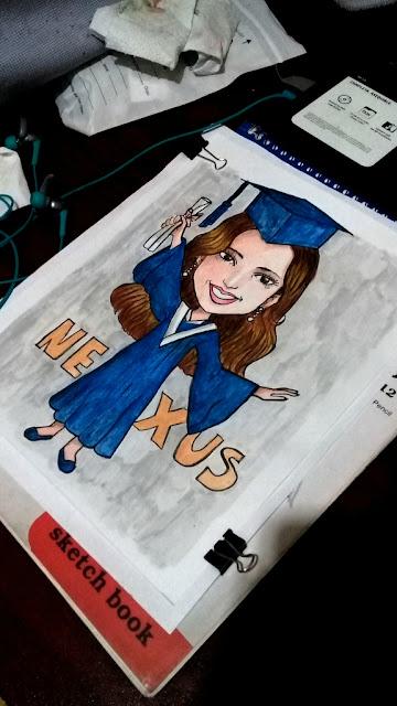 caricatura para graduación