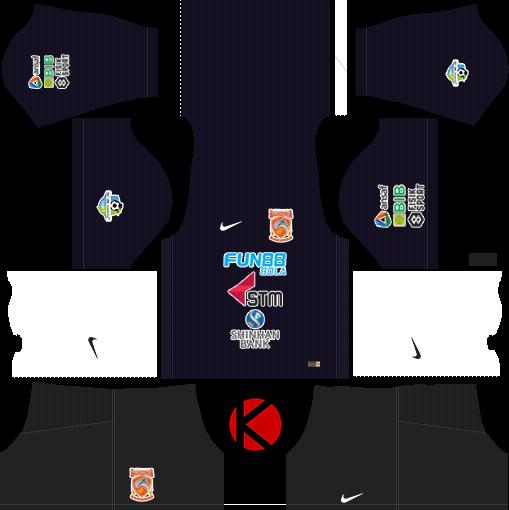 Borneo FC 2018 Kit - Dream League Soccer Kits - Kuchalana