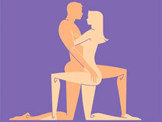 """Tư thế """"yêu"""" này rất phù hợp với các đôi có chiều cao gần bằng nhau"""